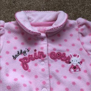 Other - Baby girl fleece pajamas